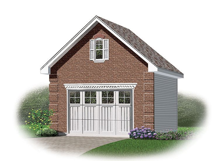 028g 0030 1 Car Garage Plan With Loft 19 X24 Building A Garage Garage Plans Garage Plans With Loft