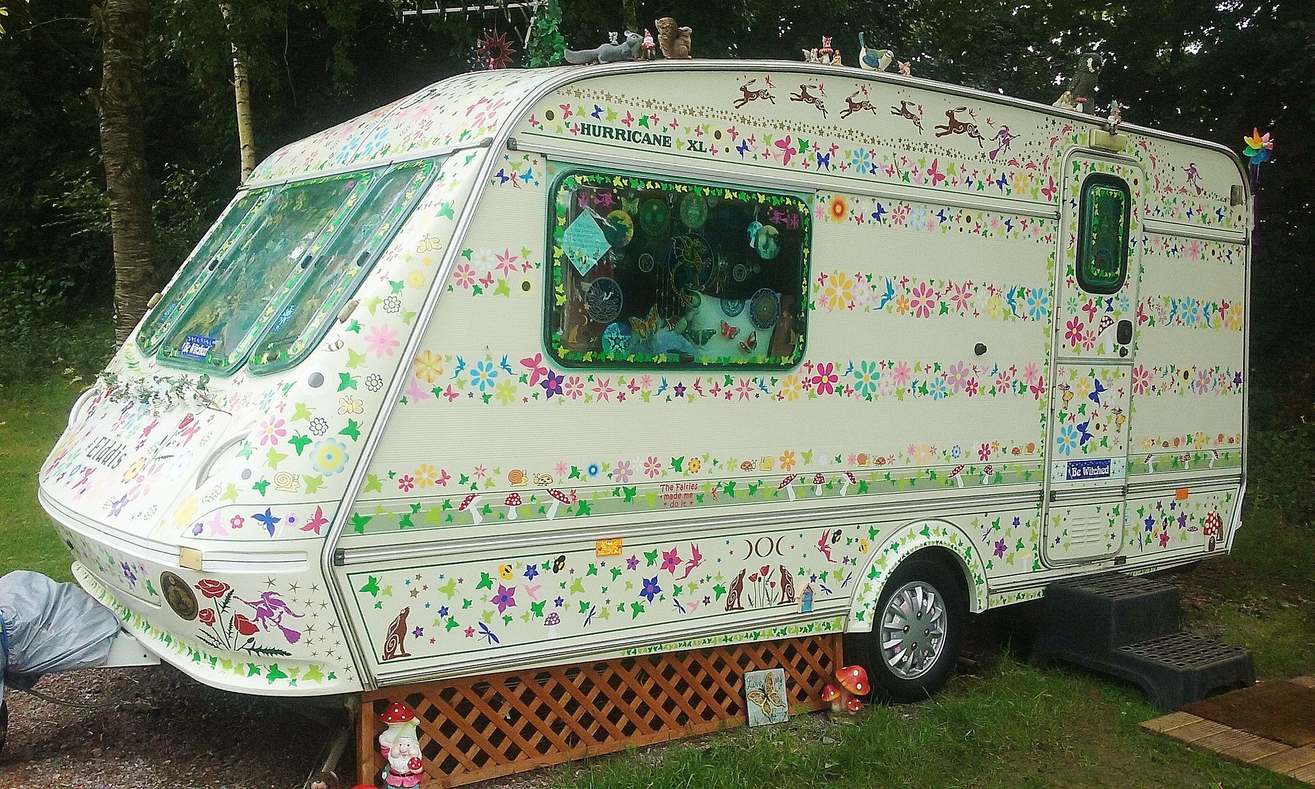 Funky Spiritual Flowery Caravan Car Graphics Stickers Decals By Hippy Motors Car Decal Hippie Spiritual Decals Car [ 1536 x 2560 Pixel ]