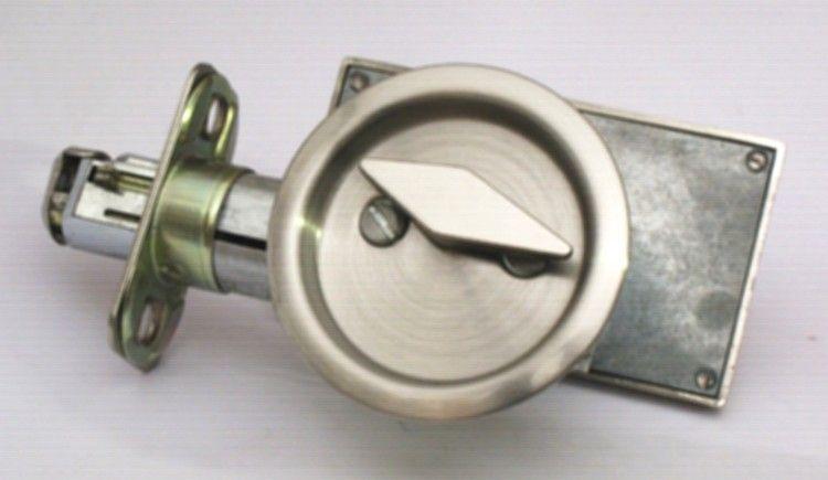 Pocket Door Privacy Lock Occupied Vacant Sliding Door Lock Satin Nickel Pocket Door Lock Privacy Lock Bathroom Makeover Pocket Doors