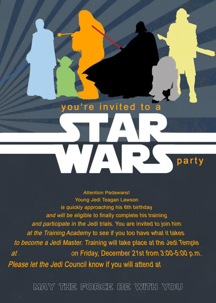 Printable Star Wars Birthday Invitations | Star Wars Party ...