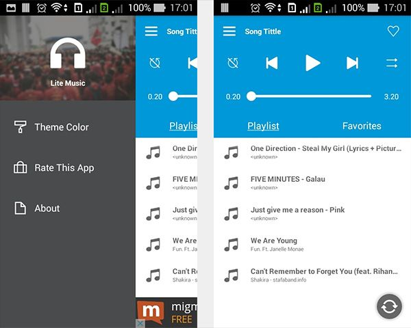 Create A Music Player On Android Project Setup My Girl Lyrics