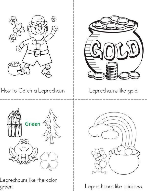 How To Catch A Leprechaun Mini Book St Patrick Day Activities Leprechaun Activities Mini Books