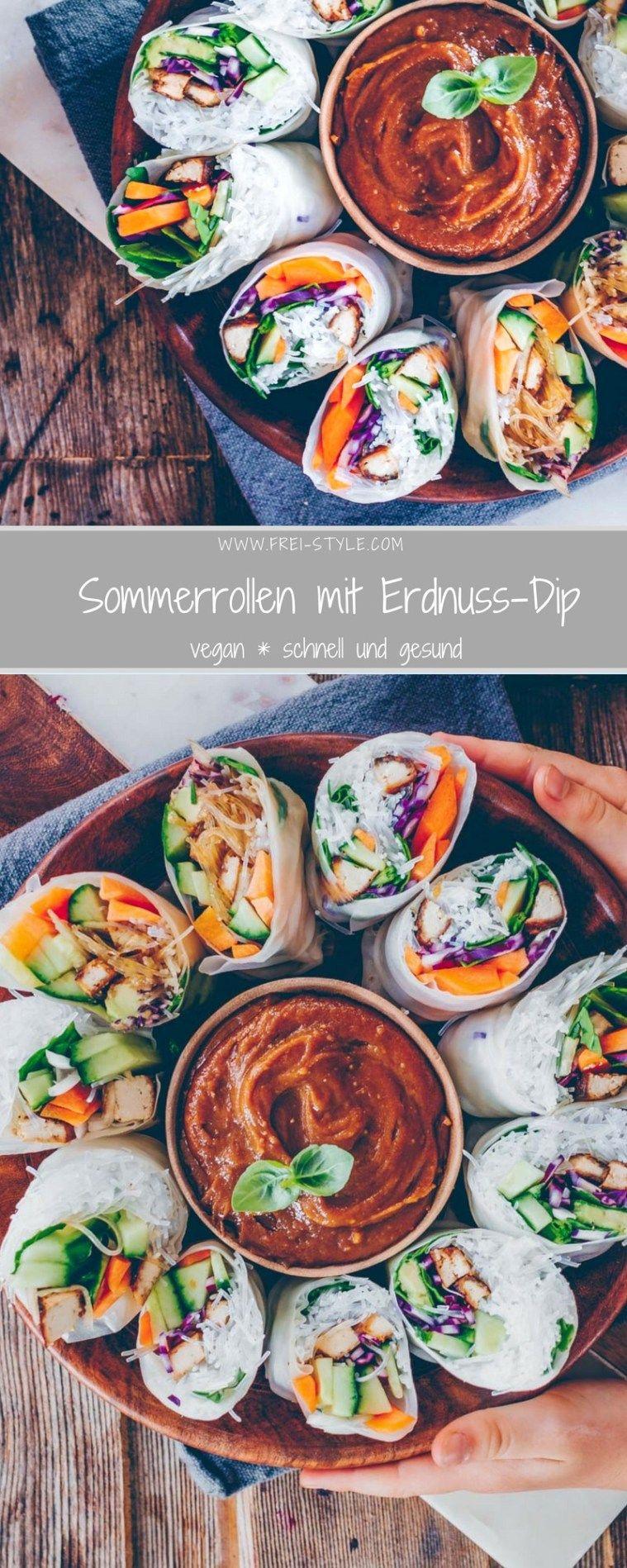 Sommerrollen mit Erdnuss-Dip * Freistyle