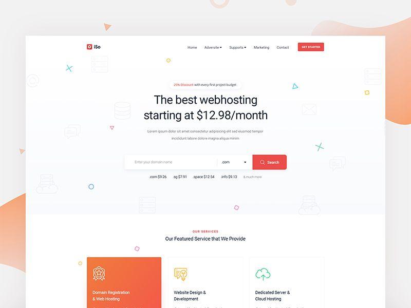 Hosting Website Landing Page Website Hosting Landing Page Web Design