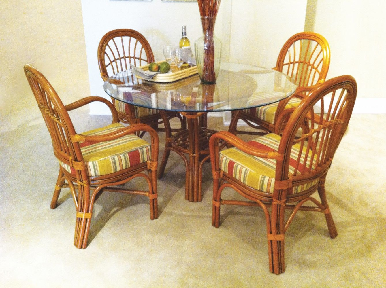 Indoor  Palm Harbor  8600 Palm Harbor Dining  South Sea Extraordinary Indoor Wicker Dining Room Sets Decorating Design