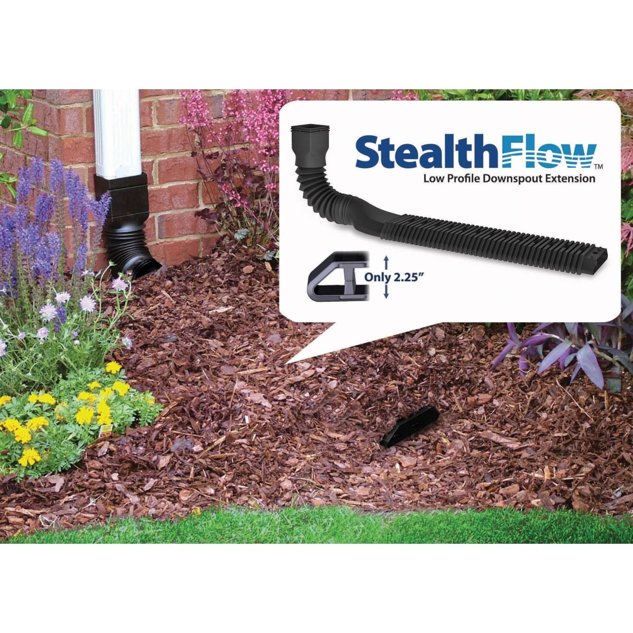 "Invisaflow 52"" Stealthflow Low Profile Downspout Kit (4600"