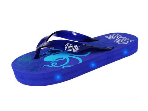 dde75855c9731 Octopus light up flip flops with blue LED lights.