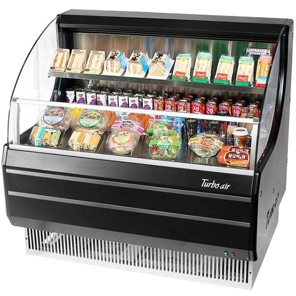 Turbo Air Tom 40lb N 39 Black Low Profile Horizontal Air Curtain Display Case With Images Display Case Display Commercial Refrigerators