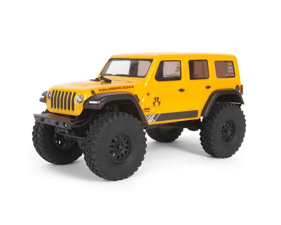 Axial Scx24 2019 Jeep Wrangler Jlu Crc 1 24 4wd Rtr Scale Mini Crawler Yellow Axi00002t2 Cars Trucks Jeep Wrangler Jeep Rc Jeep