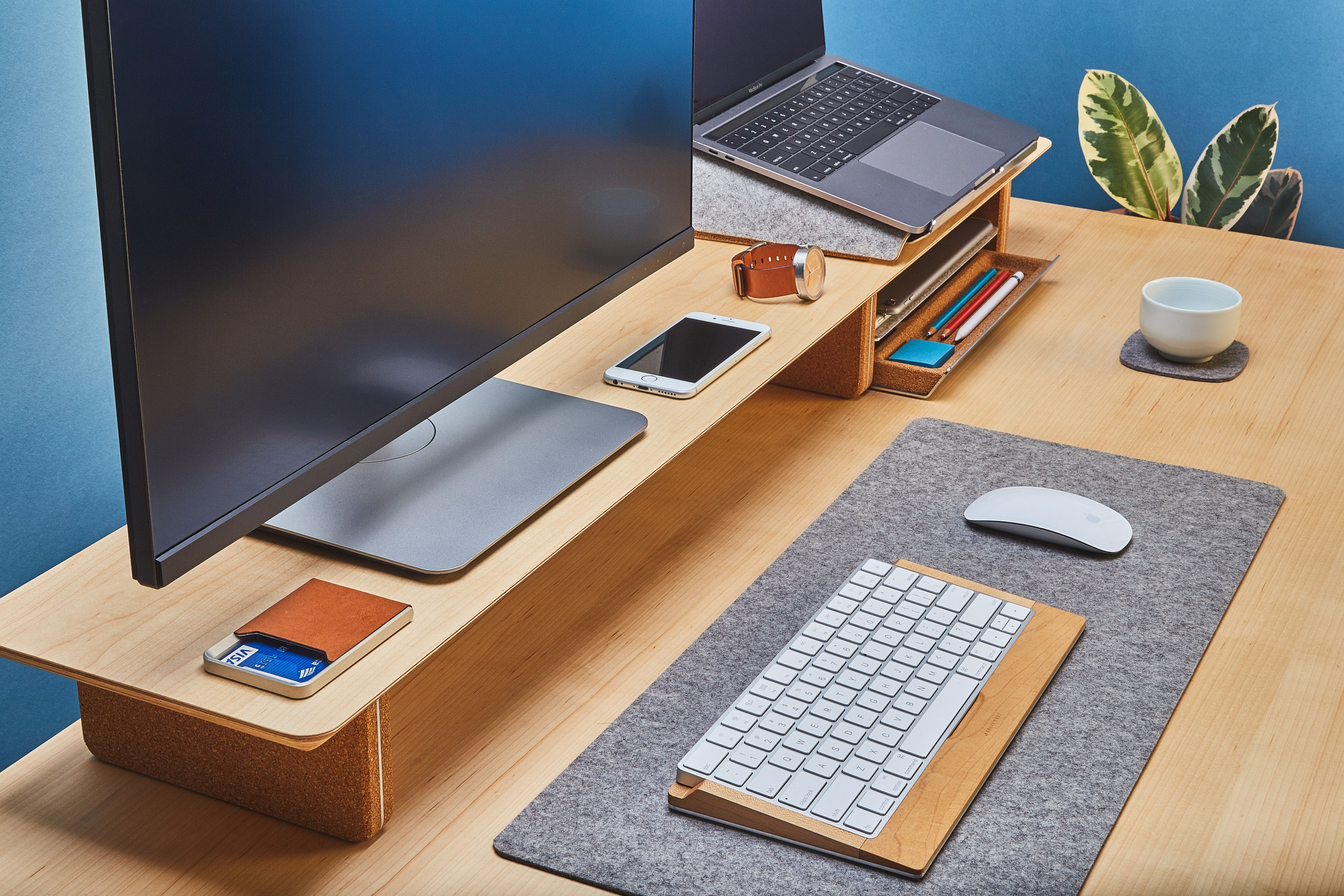 Keep Your Desk Clean And Organized With Desk Shelf Laptop Stand