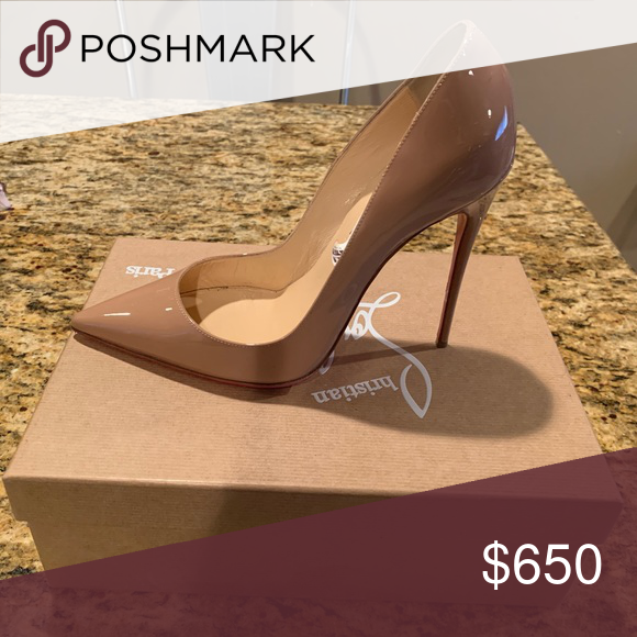 "3a5b01d5185 Christian Loubotin ""So Kate"" Nude Loubotin shoes run 1.5-2 sizes too ..."