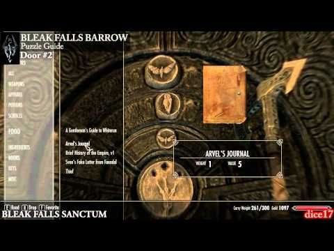 Skyrim Guide Bleak Falls Barrow Door Code Combination Games