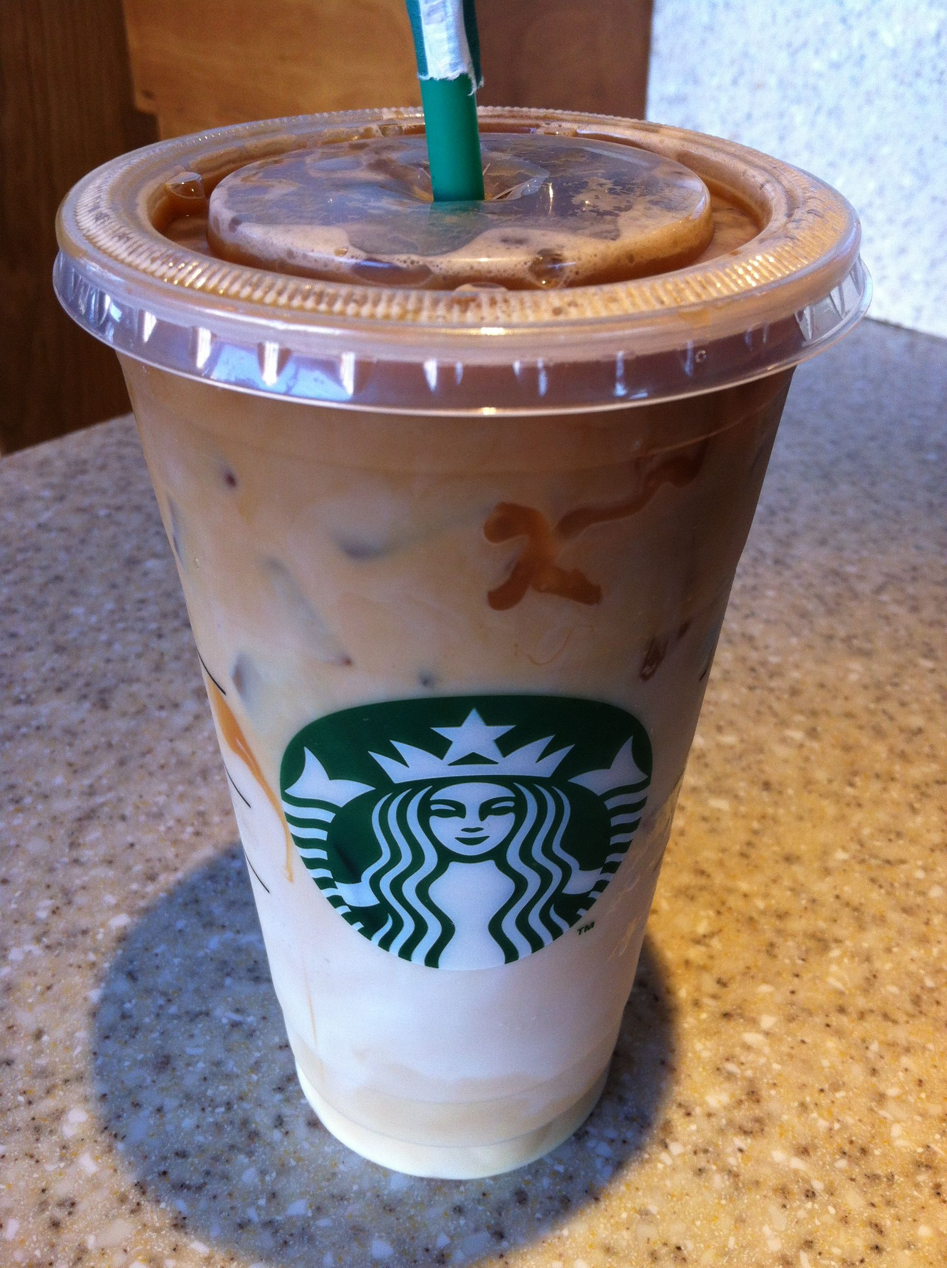 Iced Caramel Macchiato, so delicious! It sounds fancy but