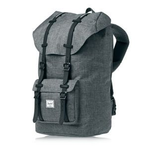 Herschel Backpacks - Herschel Little America Backpack - Charcoal Crosshatch/black Insert Rubber