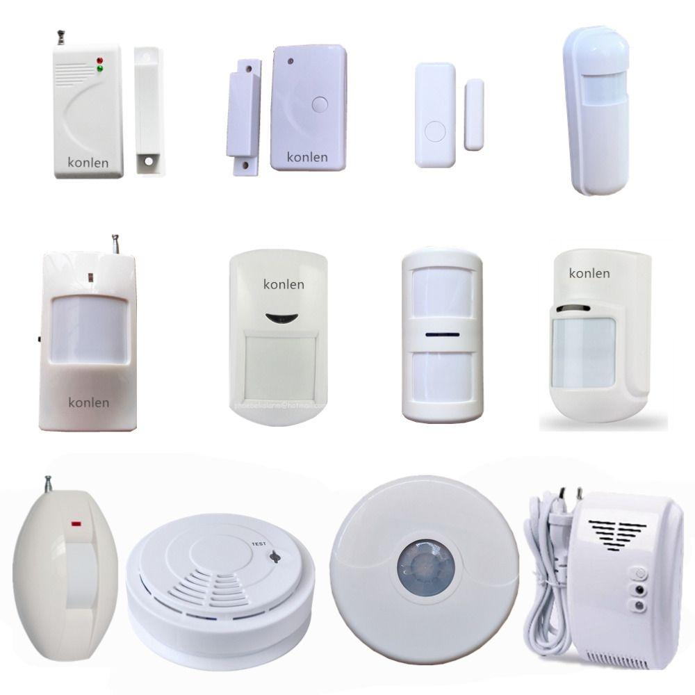 Wireless Door Window Alarm Infrared Pir Motion Sensor Fire Smoke Photoelectric Gas Leak Detector 433mhz Of Konlen Seri Gas Detector Window Alarms Motion Sensor
