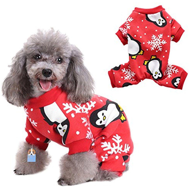 Christmas Pajamas For Dogs.Zaote Cute Pet Dog Pajamas Dog Christmas Snowflake Pattern