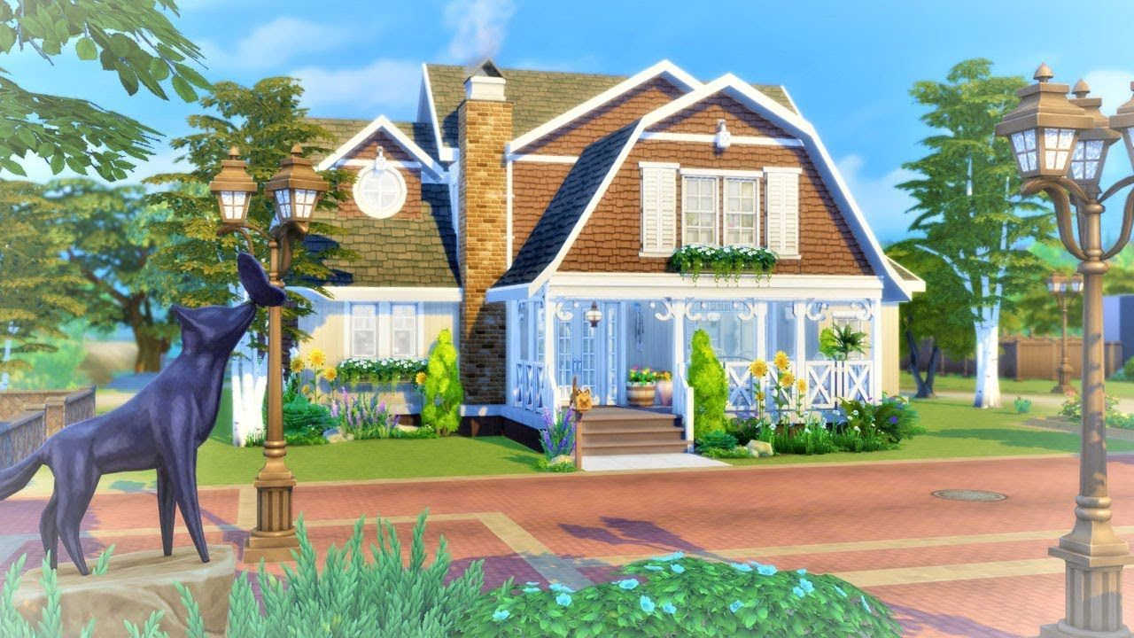 Sable Bend The Sims 4 Cats Dogs Family Home Speed Build