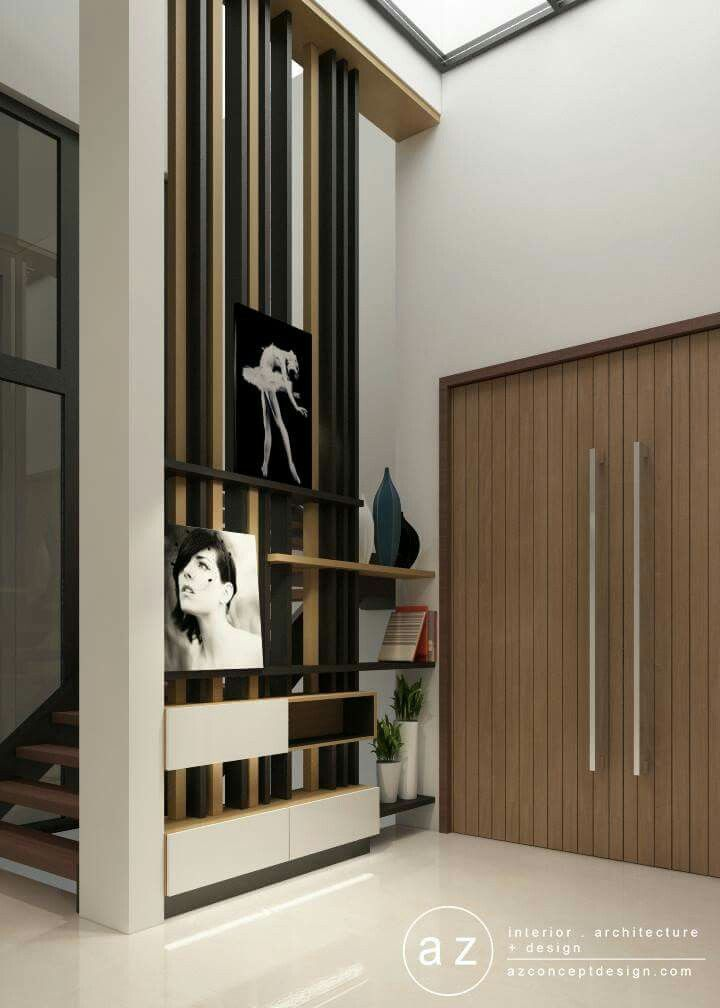 References foyer designed by az concept design i do not for Wall partition design photos