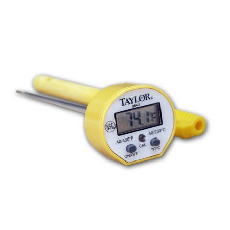 Digital Pocket Thermometer,LCD,5 In L TAYLOR 9842