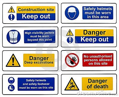 Construction Safety Hazard Danger Warning Signs Construction Safety Workplace Safety And Health Health And Safety