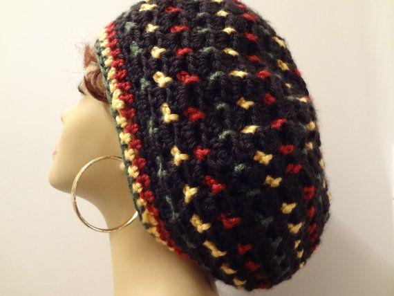 Rasta Hat Reggae Crocheted Bob Marley Rasta Slouchy