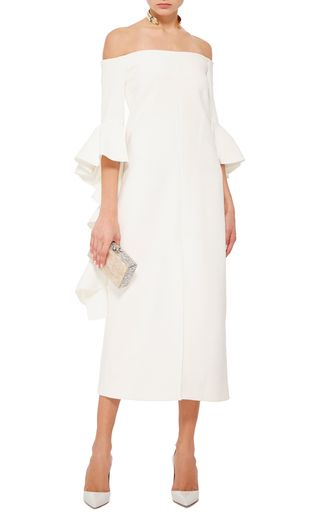 Crinkle Crepe Precocious Dress With Ruffled Sleeves By Ellery Now Available On Moda Operandi