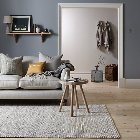 Buy John Lewis Croft Collection Snowshill Rug Grey Online At