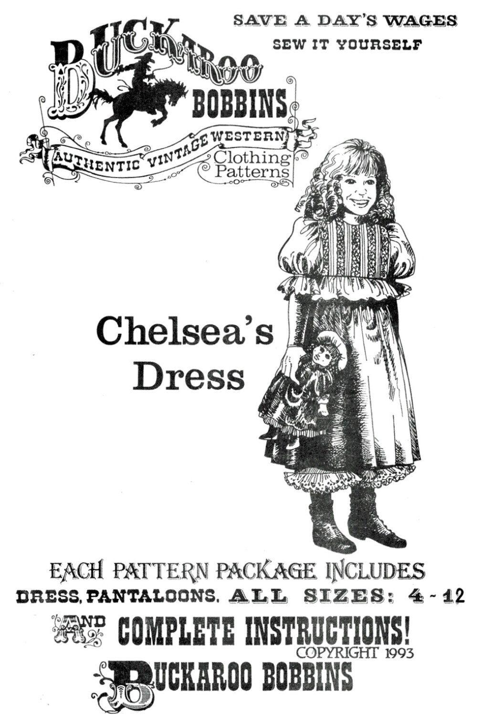Buckaroo Bobbins Chelsea's Dress & Pantaloons size 4-12