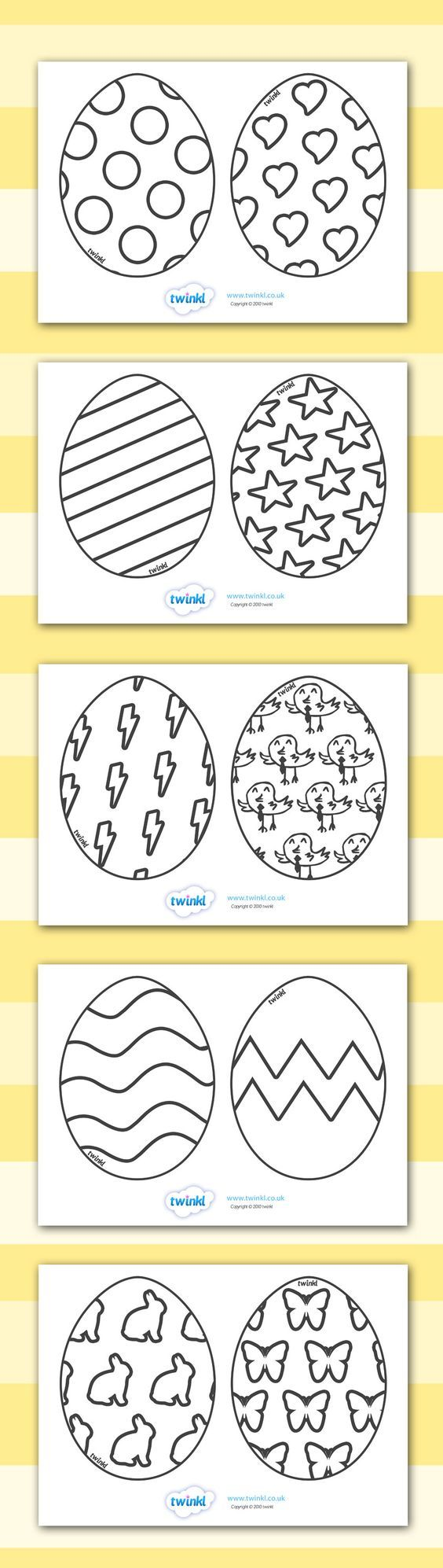 Easter Egg Colouring Templates Easter Egg Template Easter Preschool Easter Printables