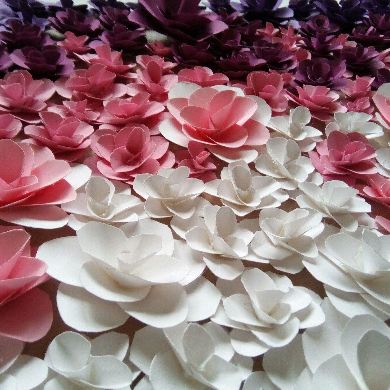 Paper Flowers Wall Decor Handmade Flowers Art Wall Decoration
