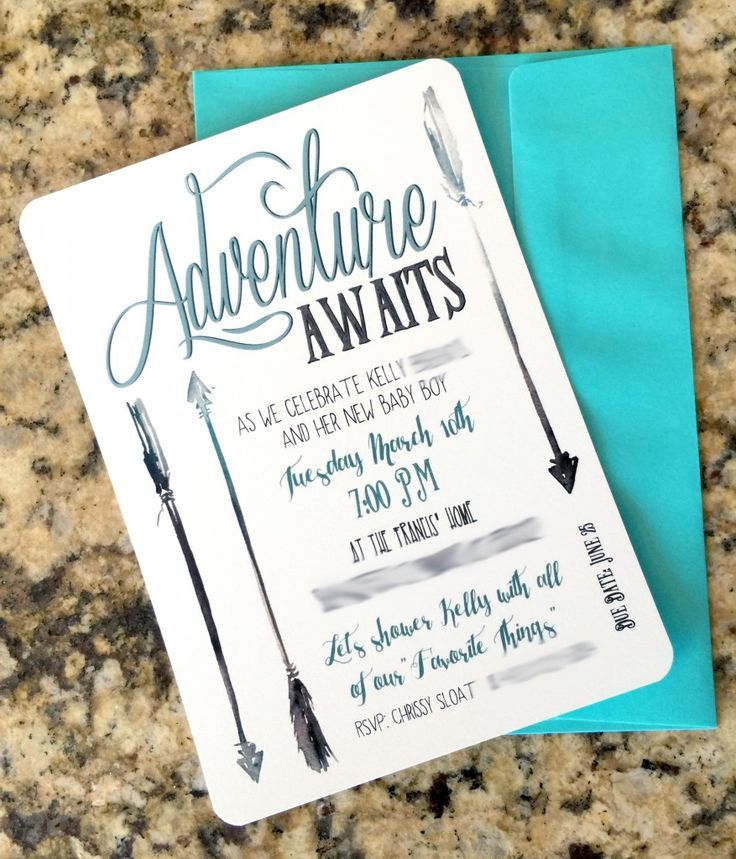 Cute idea for Boy baby shower invites. Woodland or adventure themed ...
