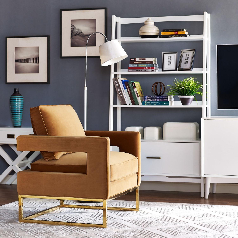 Best Avery Cognac Velvet Chair On Gold Stainless Steel Legs By 640 x 480