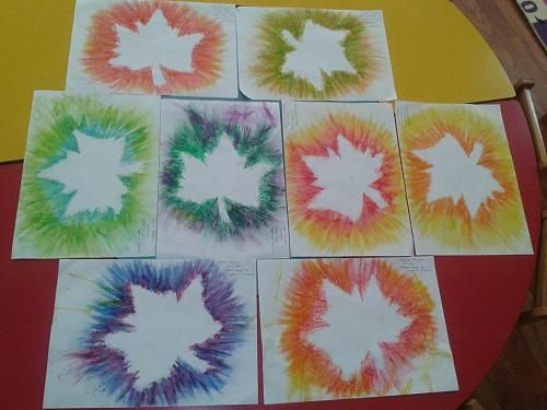 Pastel boya ile yayd rma al mas sz pinterest for Leaf crafts for adults