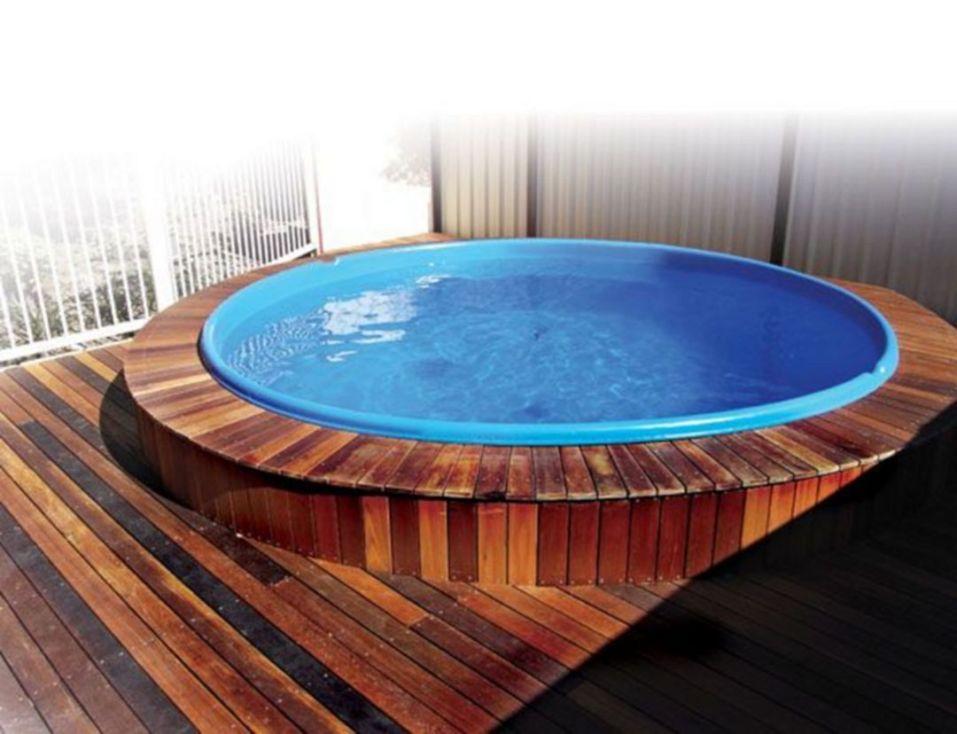 Stock Tank Tool With Wooden Deck Stock Tank Pool Diy Tank Swimming Pool Tank Pool