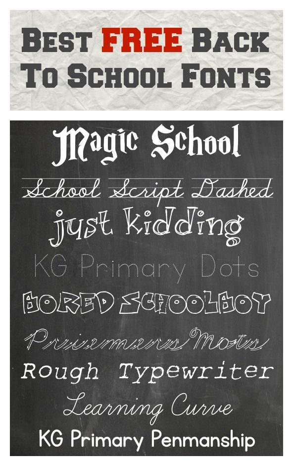 Best FREE Back To School Fonts | Children's Ministry Play
