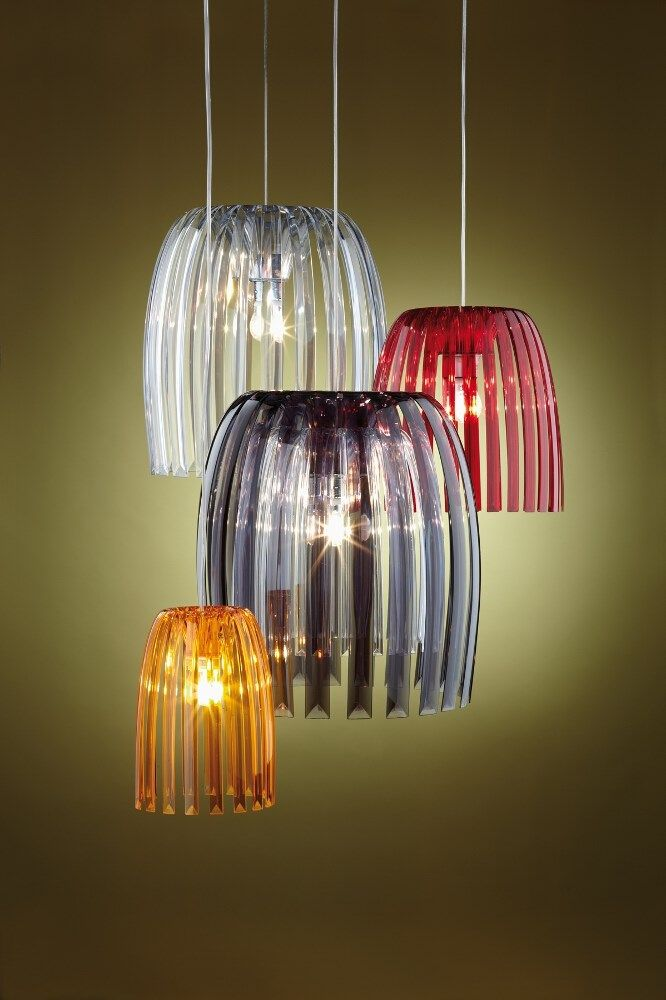 Koziol Hanglamp Josephine M.Koziol Josephine Hanglamp M Transparant Anthracite Otthon