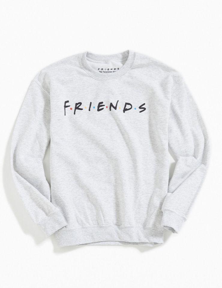 Friends Logo White Sweatshirt