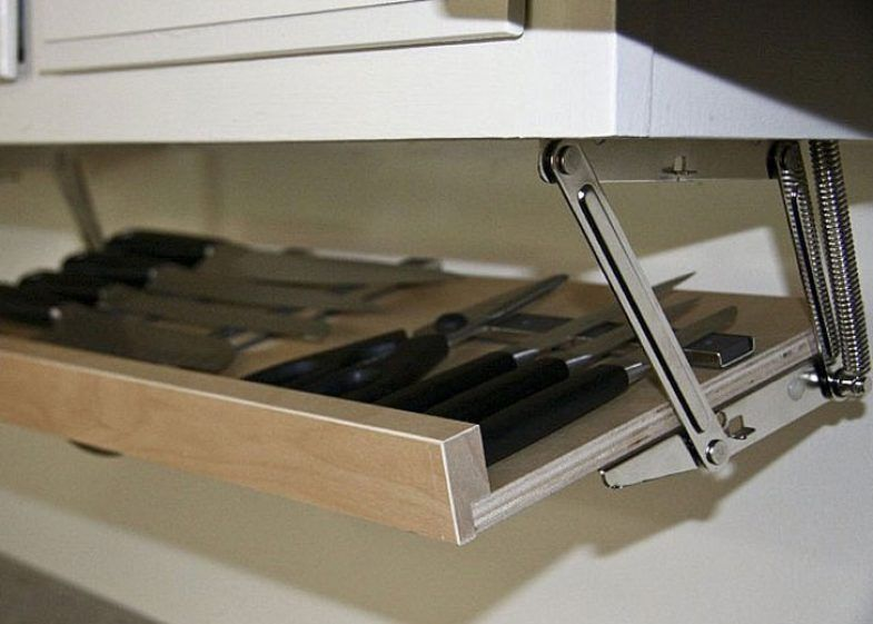 Under Cabinet Magnetic Knife Rack Kitchen Design Ideas