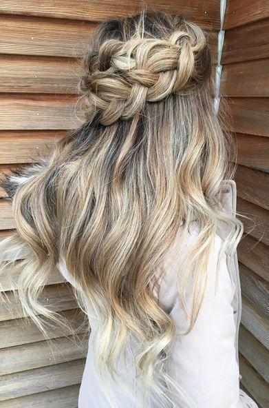 Half Up Half Down Braid Long Hair Styles Hair Styles Prom Hairstyles For Long Hair