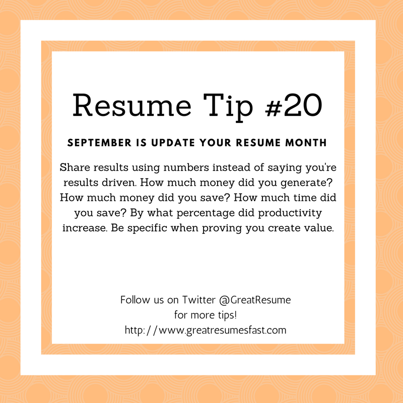 Writer Resume Resume Writing Tips For September Update Your Resume Monthresume .
