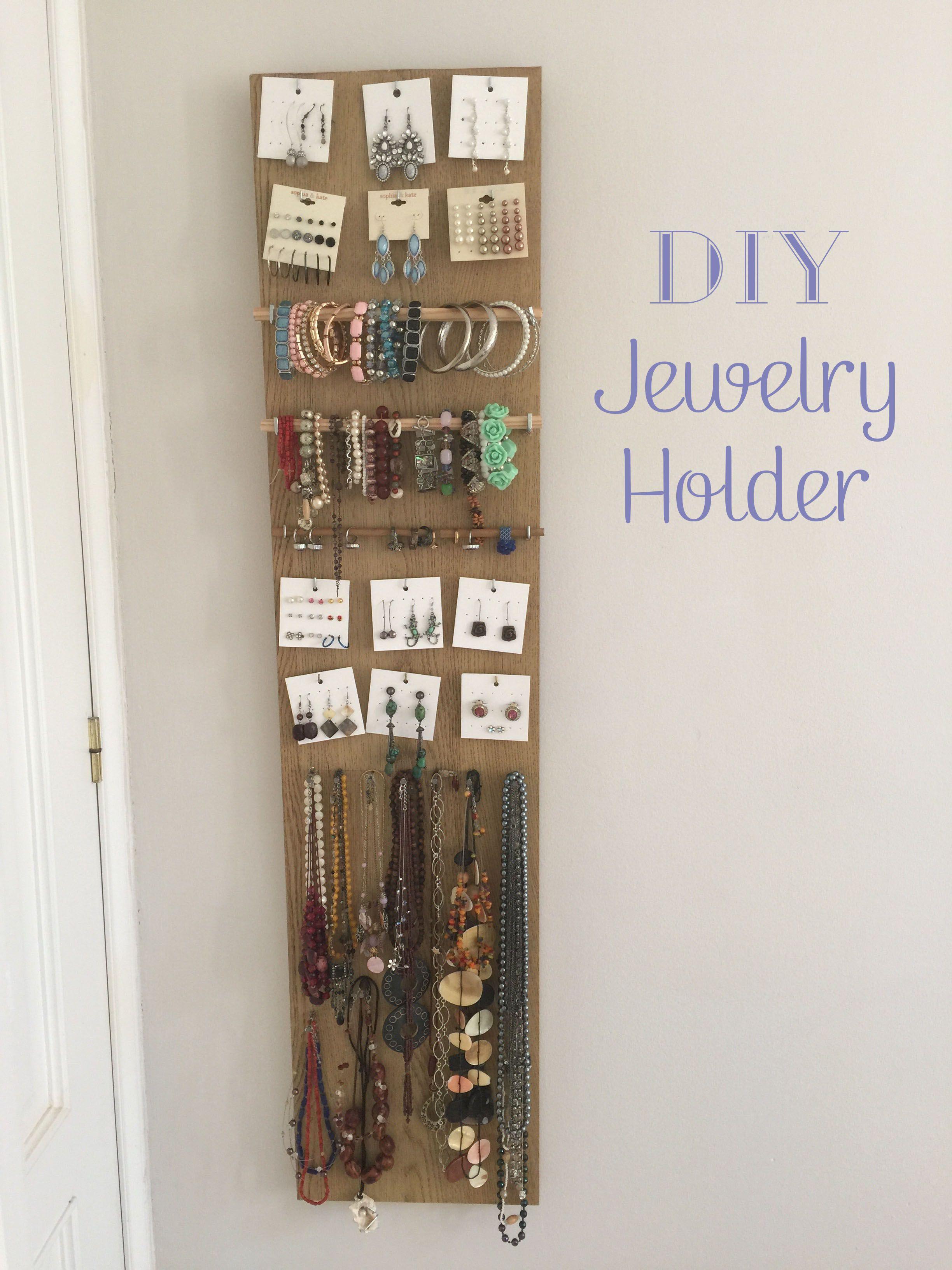 DIY Jewelry Holder | Verkaufsstand, Schmuck und Inspiration