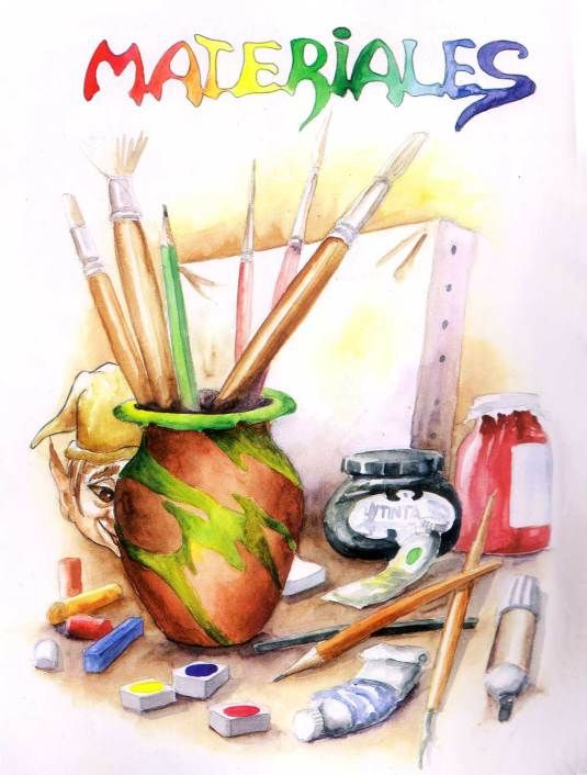 Aprende A Dibujar Y Pintar Con Balui Aprender A Dibujar Dibujos Materiales De Dibujo