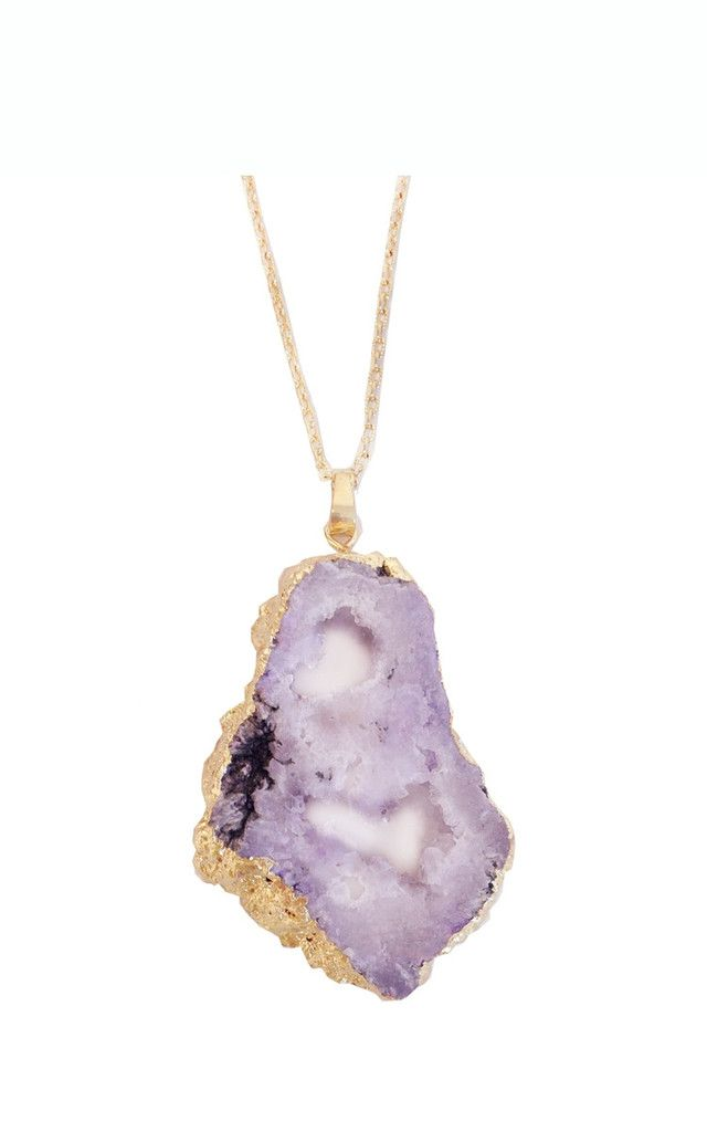 sliced druzy stone pendant | ily couture