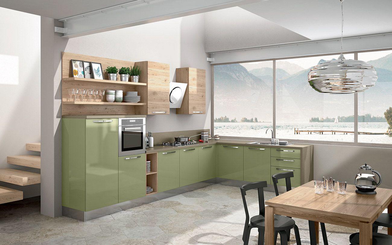 Cucina angolare moderna - Composizione 0464 | CUCINE MODERNE ...