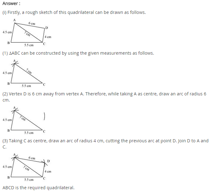 Ncert Solutions For Class 8 Maths Chapter 4 Practical Geometry Class 8 Math Solutions
