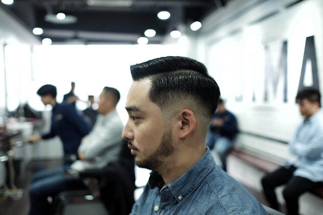 Drop Fade With Side Part Haircuts For Chinese Man Chinese Men S
