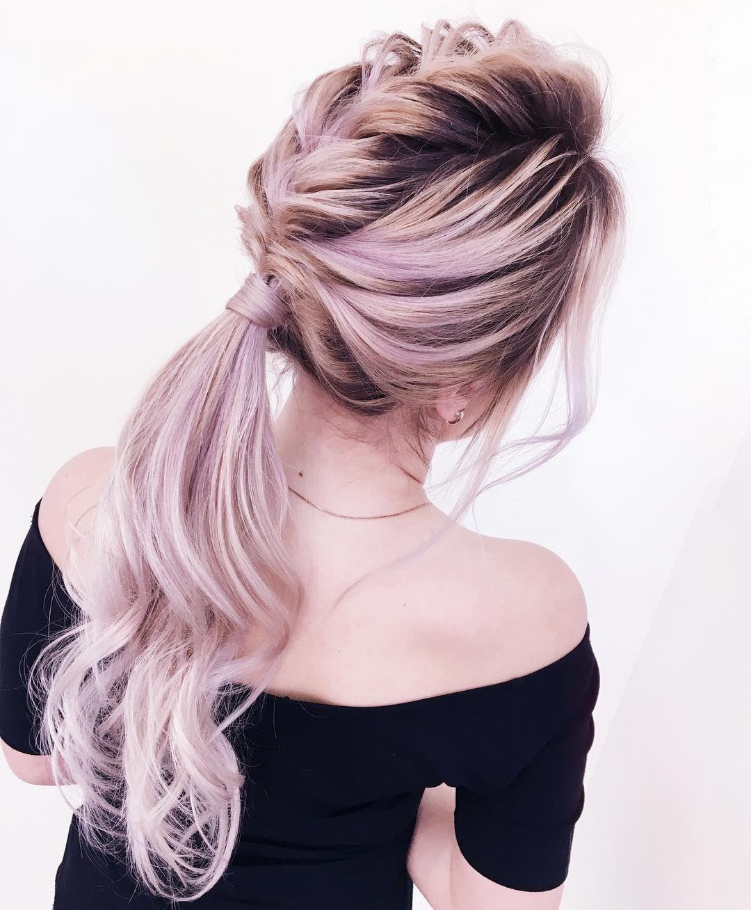 52 Beautiful hairstyle inspiration , braids ,hairstyles ,braided ponytails , textured braids #hairstyle #hair #braids #ponytails