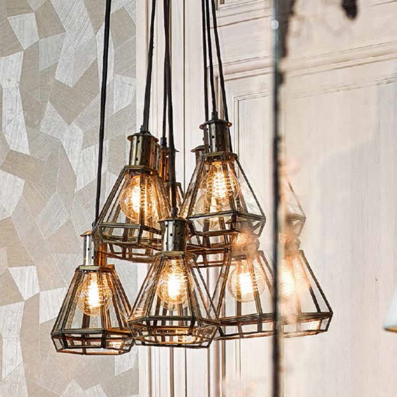 Eichholtz Polygon Hanging Lamp Mirrors for sale, Luxury