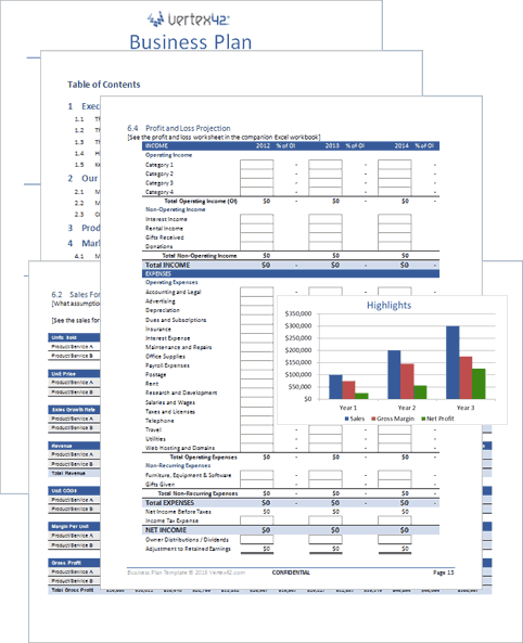 Download The Business Plan Template From VertexCom  Business