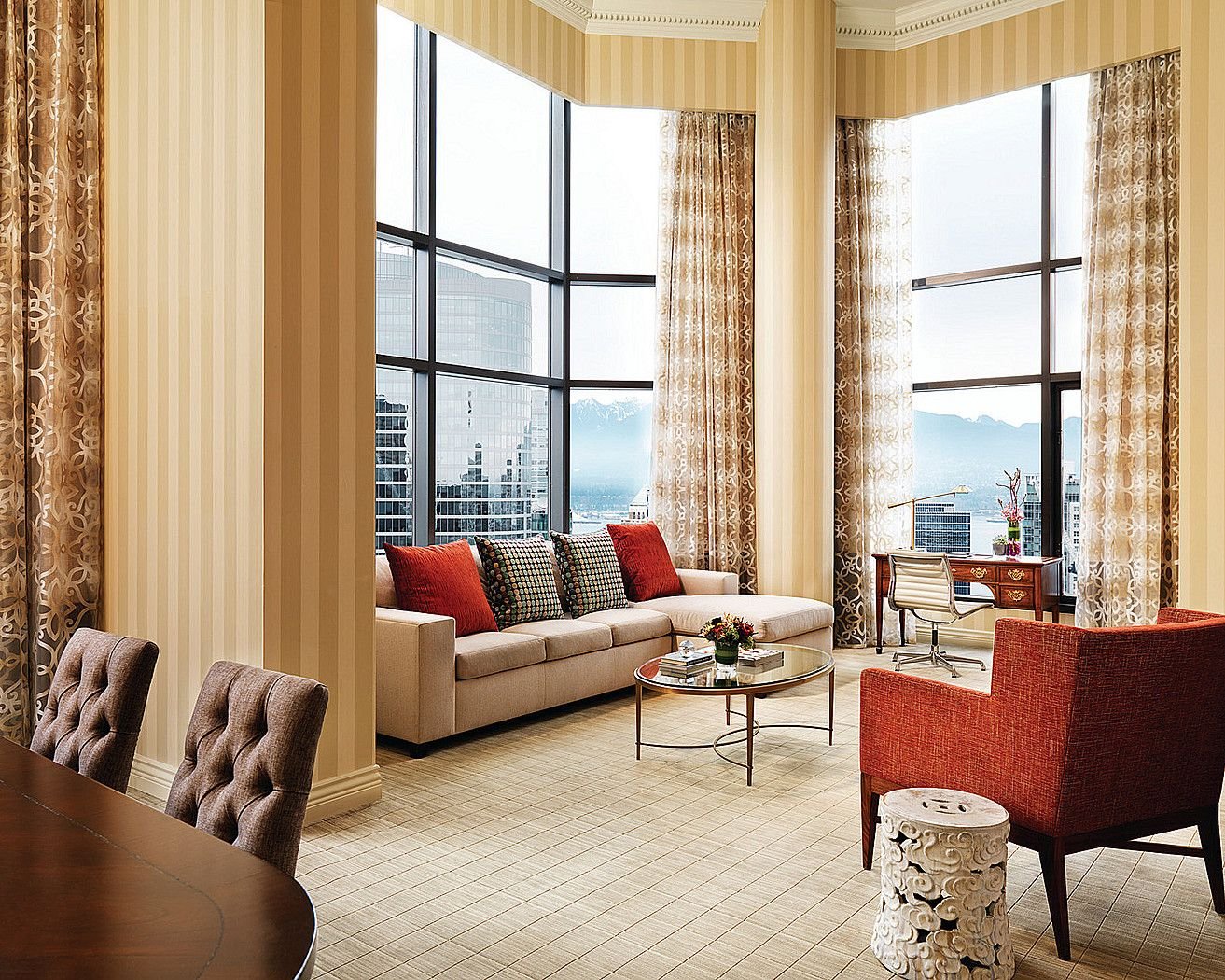 Elegantly Furnished With Modern Accents Experience Intimate Luxurious And Vibrant Palettes Of Blue Wit Luxury Hotel Room Elegant Interior Design Luxury Hotel